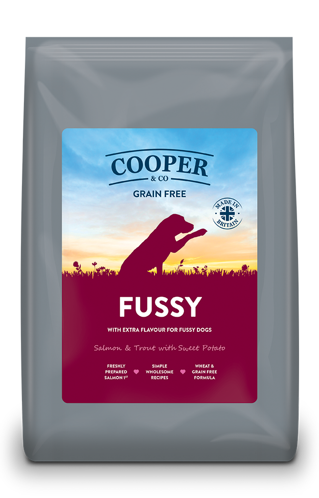 Cooper & Co. Grain Free FUSSY packaging